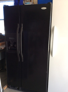 Whirlpool side by side black fridge