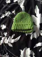 A Smaller Green Baby Hat (Knitted)
