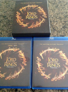 LORD OF THE RINGS TRILOGY-BLURAY&DIGITAL COPYS