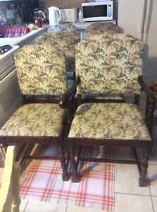 Set of 1940's antique chestnut dining chairs + other furniture
