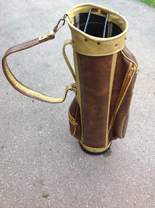 LEATHER GOLF BAG - VERY GOOD CONDITION
