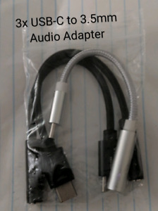 3x USB-C to 3.5mm Audio Adapter (Brand New)