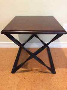 Unique Wood and Metal  with a Twist *end table*
