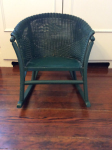 ANTIQUE WICKER ROCKING CHAIR CHILDS ROCKER