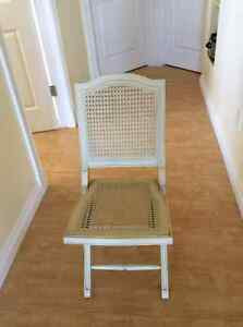 Set of 5 Solid Wood Folding Chairs
