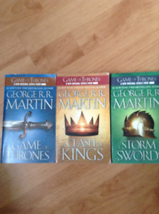 First 3 Game of Thrones Books - Very good condition