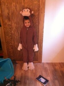 Curious George Costume Size 4-6