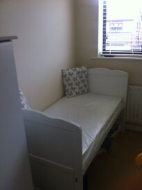Cot bed with brand new mattress