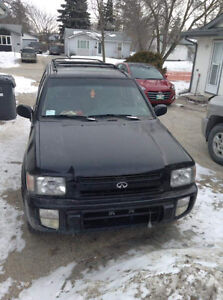 1997 Infiniti 4x4 loaded with sunroof as is or safetied