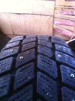 New/Used Tire studding, Canmore/Banff Dec. 26-Jan. 1.
