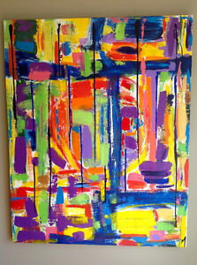 Original paintings, very large canvases, acrylics sold by artist