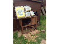 Rabbit hutch / run / carrier / food