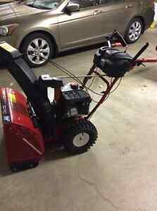 "Troy-built 24"" Snowblower. Hand warmers, auto steer, excellent."