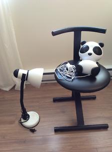 Chaise, haut-parleur Panda, lampe (ensemble ou séparément)