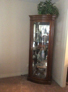 Swivel tv stand and curio stand