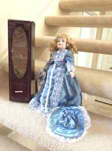 Porcelain doll . Collectable item from Germany