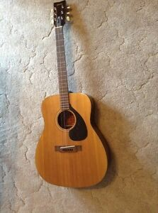 Vintage acoustic guitar with case