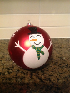 Snowman Christmas tree ornament for sale