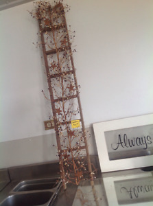 Decorated ladder for indoor or garden