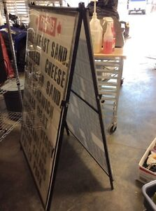 """EZChange """"A"""" frame sign board Peterborough Peterborough Area image 2"""