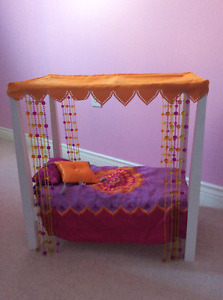 American Girl  Bed with accessories