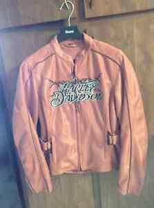 HARLEY DAVIDSON Ladies Peach, Light Jacket/Coat Size Small
