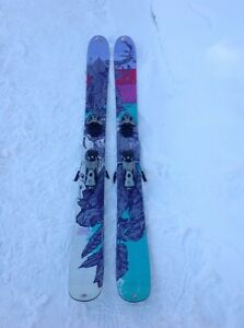 K2 Missdirected downhill skis with solomon 110 bindings