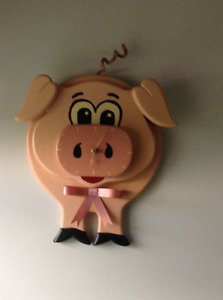 Unique pig clock