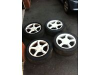 Ford escort mondeo etc alloy wheels with tyres