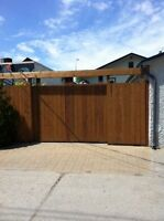 Custom fence & sliding gate construction