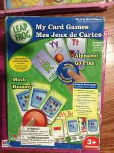 Leap pad my card games set for sale