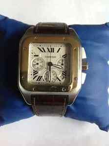 Cartier Santos XL Chronograph 18K & stainless steel watch