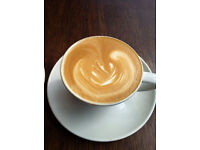 Coffee shop assistant in Richmond upon Thames.