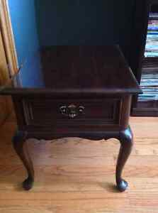 2 Gibbard cherry end tables