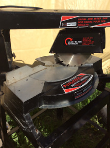 craftsman seven and half inch radial arm mitre table saw