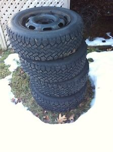 Winter tires and rims 195/60r14