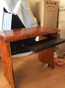 Beautiful hand carved desk by Bobby Grace one of a kind.