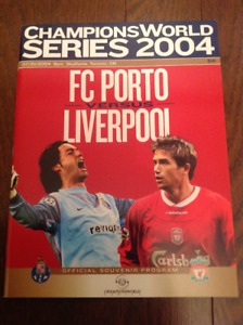 FC Porto vs Liverpool soccer program Champions World 2004 Series