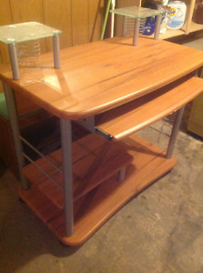 Computer Desk with Wheels