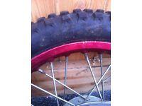 Pit bike front wheel 2.50 14