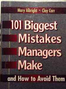 101 Biggest Mistakes Managers Make and How to Avoid Them West Island Greater Montréal image 1