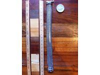 Men's or women's silver bracelet unusual