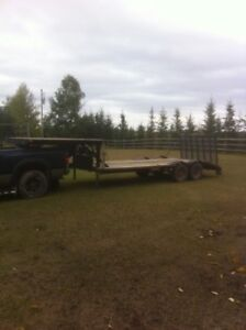 18ft flat deck trailer with ramp