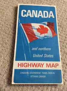 1967 map of Canada