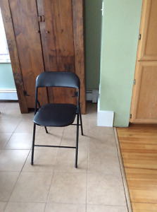Two folding chairs ($10 each)