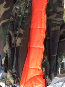Camo coat  men's large and pants size 36