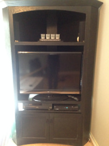 Beautiful Solid Wood Corner Entertainment Unit - JUST REDUCED