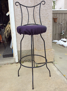 Wow! 4 wrought iron bar stools for $50
