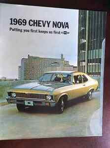 Like New 1969 Chevy Nova Dealer Brocher London Ontario image 1