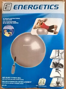 Energetics Exercise Ball 85 cm Anti-Burst with Pump and DVD